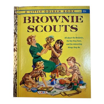 1961 Brownie Scouts Little Golden Book First Edition A Printing Louise Rumely Illustrator and Lillian Soskin Author