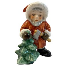 Goebel Santa Claus Christmas Figurine Tree with Axe Made in West Germany