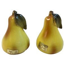 Holt Howard Yellow Pear Salt and Pepper Shakers Vintage Japan Ceramics
