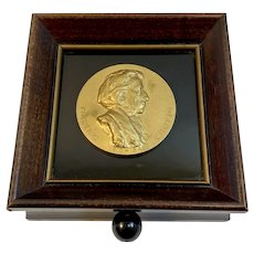 Thorens Swiss Music Box Chopin Musical Plaque Plays Till The End of Time Switzerland Shadowbox Frame