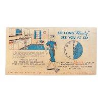 1937 Reddy Kilowatt Ink Blotter Advertising PP&L Pennsylvania Power and Light