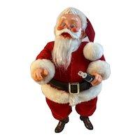 1983 Bob Robinson Dakin Coca Cola Santa Claus Holding a Coke Bottle with Brown Boots Stuffed 15.5 Inch Haddon Sundblom