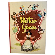 1953 Mother Goose Whitman Childrens Book Illustrated Hilda Miloche and Wilma Kane Nursery Rhymes