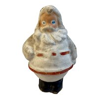 Blue Eyed Santa Paper Mache Candy Container Vintage Christmas Jolly St. Nick Pulp Egg Carton