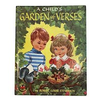 1958 A Child's Garden of Verses Robert Louis Stevenson Illustrated by Ruth Wood Wonder Book Childrens