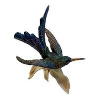 1969 Goebel Kolibri Hummingbird Bird Figurine West Germany Matte Finish