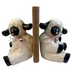 Baby Lamb Sheep Bookends by Royal Orleans Japan Book Ends