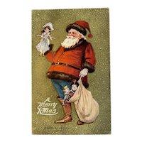 1909 Archie Gunn signed Santa Claus Postcard