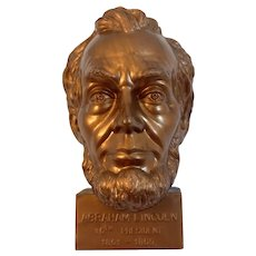 President Abraham Lincoln Bust Pencil Sharpener Hard Plastic Made in USA