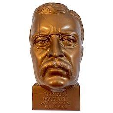 President Teddy Roosevelt Bust Pencil Sharpener Hard Plastic Made in USA
