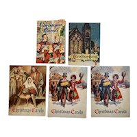 5 1950s Christmas Carols Advertising Books Booklets National Bank of Chambersburg PA Club John Hancock