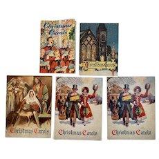 5 1950s Christmas Carols Advertising Books Booklets National Bank of Chambersburg PA Club John Hancock