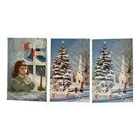 3 1950s Christmas Carols Advertising Books Booklets National Bank of Chambersburg PA Club John Hancock