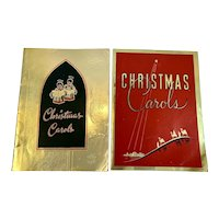 2 1950s Christmas Carols Advertising Books Booklets Foil Covers Shively Motors Chambersburg PA Automobilia Car Dealer