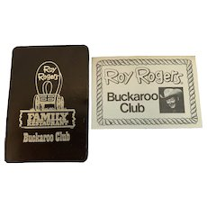 Roy Rogers Buckaroo Club Membership Card with Plastic Case
