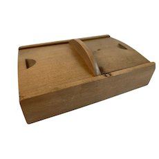 Wood Desk Accessories Box with Sliding Lids