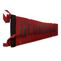 Georgia Felt Sport Pennant Circa 1930-40s