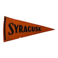 Syracuse University Felt Pennant Circa 1930-40s