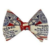 Vintage Budweiser Bow Tie Bowtie Beer Advertising