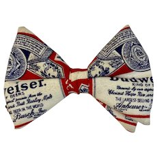 Vintage Budweiser Bow Tie Bowtie Beer Advertising