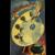 Unused Signed Clapsaddle Halloween Postcard International Art Publishing Co IAP The Black Art Palette Cauldron Broomstick Witchcraft Silhouettes