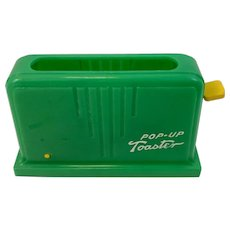 AJ Desimone Toy Pop-Up Toaster Green and Yellow Paterson NJ Pop Up Popup