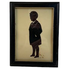 Cut Paper Silhouette of 6 ½ Year Old Child Dated 1932