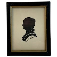 Mary Todd Lincoln Pen and Ink Silhouette