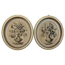 Pair of Mid-Century Floral Prints