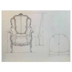Hand Drawn Pencil Chair Plans