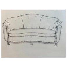 Hand Drawn Pencil Sofa Plans