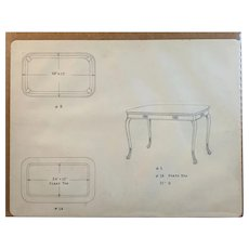 Hand Drawn Pencil Table Plans
