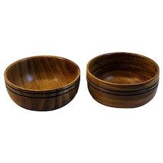 Two Blackwood Bowls Tasmania Africa African Wood Tasmanian Hand Made