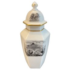 Royal Worcester Fine Bone China Miniature Tea Caddy