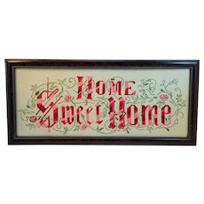 Home Sweet Home Motto Framed Needlepoint