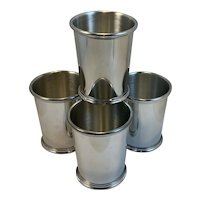 4 Salisbury Pewter Kentucky Mint Julep Cups Hand Crafted