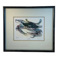 Blue Shell Crab Hardheaded Limited Edition Print by Peter Hanks
