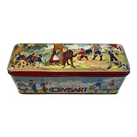 French Biscuit Tin Fairy Tale Litho Decoration Little Red Riding Hood Puss N Boots Corvisart Biscottes Metalco Toulouse France