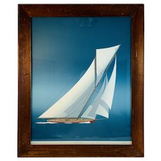 Constitution Sailboat Limited Edition Signed Numbered Titled Print by Keith L Reynold