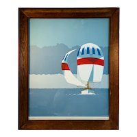 Fog Spinnaker Sailboat Limited Edition Signed Numbered Titled Print by Keith L Reynold