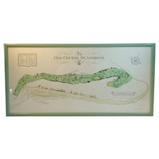 The Old Course, St. Andrews Scotland Golf Course Print Circa March 1924