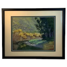 Walker Creek a Pastel by Jan Thomas