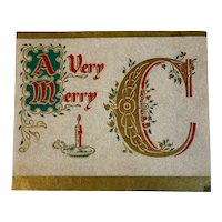 Christmas Card Fold Out Banner on Parchment Style Paper