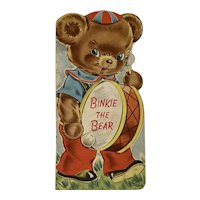 1949 Binkie The Bear Whitman Die Cut Childrens Book Illustrated by Anne Berry