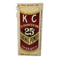 KC Baking Powder Country Store Advertising Grocer's Want Book Notebook True Height Can