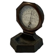 Table Advertising Thermometer Seafood Philadelphia Circa 1900s