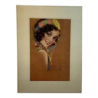 Raymond Wilson Hammell Pin Up Signed and Titled Elaine