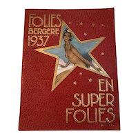 Follies Bergere 1937 Josephine Baker En Super Folies Program