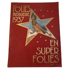 Follies Bergere 1937 Josephine Baker En Super Folies Program