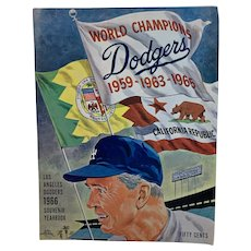 Los Angeles Dodgers 1966 Souvenir Yearbook Baseball